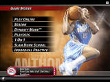 NBA Live 2005 Windows The different game modes