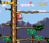 Claymates SNES Muckster can climb trees and other walls