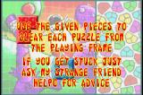 It's Mr Pants Game Boy Advance How to play Puzzle Mode