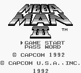 Mega Man III Game Boy Title screen