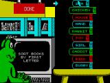 Fun School 4: For 5 to 7 Year Olds ZX Spectrum Sort the books into alphabetical order
