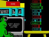 Fun School 4: For 5 to 7 Year Olds ZX Spectrum Click on a book to move it, and again to release it