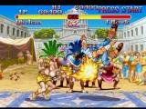 Street Fighter Collection PlayStation Another simultaneous-clashing-attack, now involving Dhalsim's Yoga Flame and T. Hawk's Condor Dive.