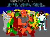 Moraff's World DOS Title screen