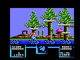 Flimbo's Quest Amstrad CPC A red fish jumps out of the water