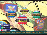 Sonic Mega Collection GameCube Main Menu - tweak options, view manuals, or check out Sonic comics