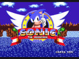 Sonic Mega Collection GameCube Sonic the Hedgehog - Title Screen
