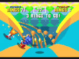 Sonic Mega Collection GameCube This special stage dips and curves - grab rings, avoid the bombs!