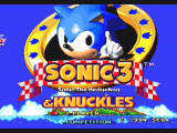 Sonic Mega Collection GameCube Sonic the Hedgehog 3 & Knuckles - Title Screen