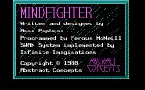 Mindfighter DOS Title, credits, copyright screen