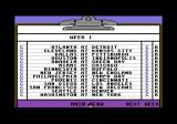 TV Sports: Football Commodore 64 League schedule