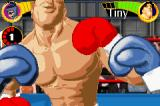 Boxing Fever Game Boy Advance Tiny's head reaches off the top of the screen.
