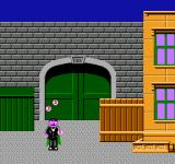 Big Bird's Hide and Speak NES After you successfully complete a round, one of the characters will come out and celebrate.  Here, The COunt is juggling.