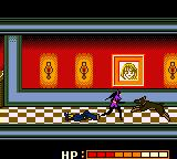 Catwoman Game Boy Color Fighting another dog in the hallway
