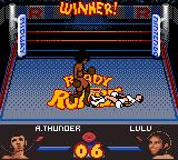 Ready 2 Rumble Boxing Game Boy Color Afro Thunder celebrates his win