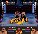 Ready 2 Rumble Boxing Game Boy Color Buster Brown takes a low hit from Salua