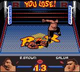 Ready 2 Rumble Boxing Game Boy Color Salua has KOed Buster Brown