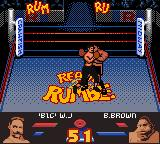 Ready 2 Rumble Boxing Game Boy Color Big Willy gets up in Buster Brown's face