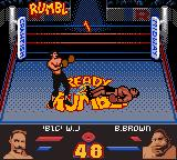 Ready 2 Rumble Boxing Game Boy Color And Brown falls to the mat
