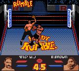 Ready 2 Rumble Boxing Game Boy Color Willy lands a powerful uppercut on Buster Brown
