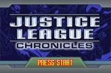 Justice League: Chronicles Game Boy Advance Title screen