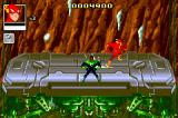 Justice League: Chronicles Game Boy Advance Dodging falling icicles in an elevator level