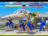 Street Fighter Collection PlayStation Guile's premise of attacking Thunder Hawk is suddenly interrupted by his Tomahawk Buster move...