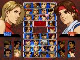 The King of Fighters '99: Millennium Battle PlayStation Character selection screen
