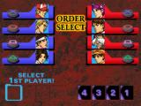 The King of Fighters '99: Millennium Battle PlayStation Setting the battle order.