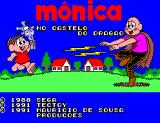 Mônica no Castelo do Dragão SEGA Master System Title screen showing Mônica and Capitão Feio.