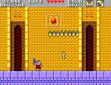 Mônica no Castelo do Dragão SEGA Master System When you defeat a boss you'll get items to unlock the stage you're in, like this key.
