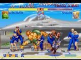 Street Fighter Collection PlayStation Aiming a counterattack, Blanka uses his move Surprise Forward and approaches a more little of Guile.
