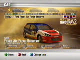 RalliSport Challenge 2 Xbox car selection: ford focus air