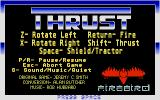 Thrust Atari ST Title screen