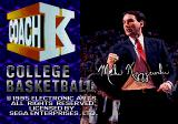 Coach K College Basketball Genesis Title screen