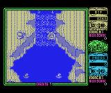 Toobin' MSX Gaining speed in the waterfall