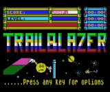 Trailblazer MSX Title screen