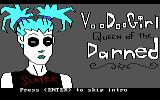 Voodoo Girl:  Queen of the Darned DOS Title screen
