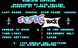 Awesome Earl in SkateRock DOS Main menu