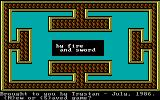 By Fire & Sword DOS Title screen