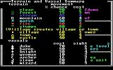 By Fire & Sword DOS Map legend (and some artifacts from the commands listing 8)