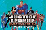 Justice League: Injustice for All Game Boy Advance Title screen.