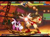 Street Fighter Collection PlayStation Rose meets Zangief's guard totally open and decides to attack him with a bloody-single Strong Kick.
