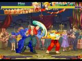 Street Fighter Collection PlayStation Guard position OK: and Ken Masters is about to block Nash's (Charlie's) Sonic Break Super Combo...