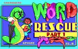 Word Rescue DOS Title screen