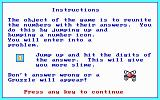 Math Rescue DOS Instructions