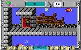 Math Rescue DOS Romping around an underwater platform level