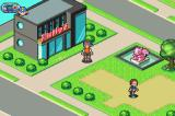 Mega Man Battle Network 5: Team Protoman Game Boy Advance In front of Higsby's store