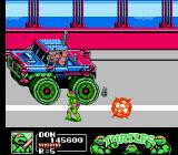 Teenage Mutant Ninja Turtles III: The Manhattan Project NES Bebop shows off his new truck and explosives