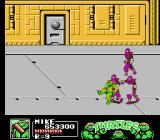 Teenage Mutant Ninja Turtles III: The Manhattan Project NES Get too close to any foot clan ninja and they might grab the ninja turtle